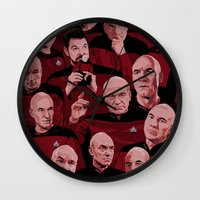 picard Wall Clocks featuring Picard Day by Brian J. Smith
