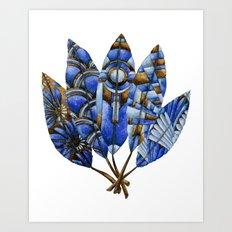 Gatsby Five Feathers Art Print