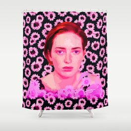 The beauty of a freckle Shower Curtain