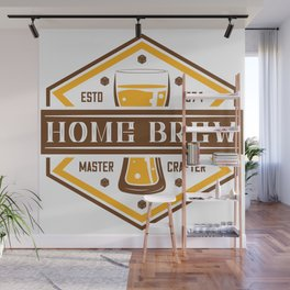 D20 Home Brew Content Creator Beer Label Wall Mural