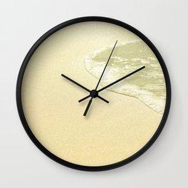 beach sparkling golden sand Wall Clock