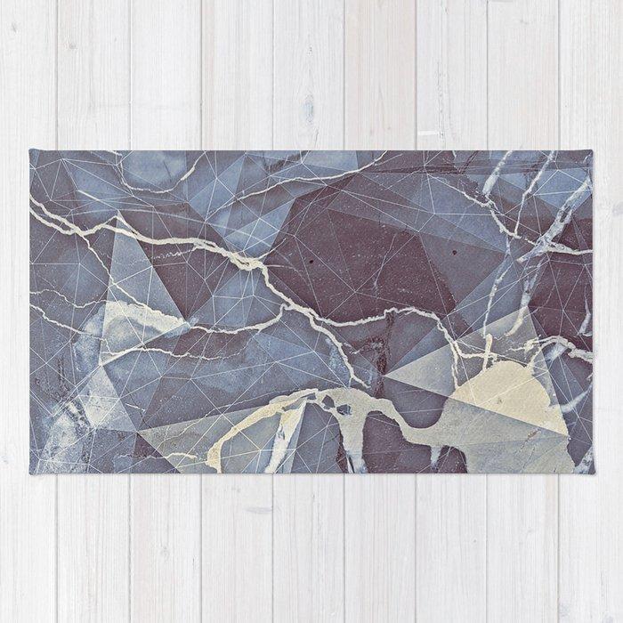 Geometric Marble Rug