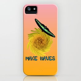 Cute Butterfly Sunny Yellow Floral Swirl Inspiration iPhone Case