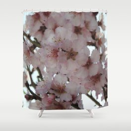 Almond Blossom pixelated Shower Curtain