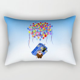 Cute Old 10th doctor who with flaying tardis iPhone 4 4s 5 5c 6, pillow case, mugs and tshirt Rectangular Pillow