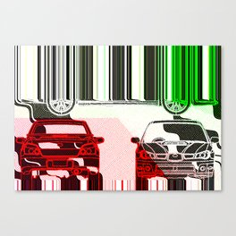 Impreza Melted Colors Canvas Print