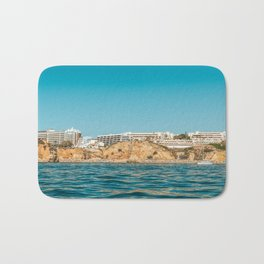 People On Lagos Beach Of Algarve In Portugal, Travel Photo, Large Printable Photography, Ocean Wall Bath Mat