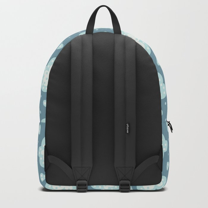 Winter Hearts And Snowy Clouds Backpack