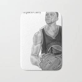Steph Curry (black and white) Bath Mat