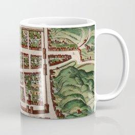 Vintage Map of Edinburgh Scotland (1580) Coffee Mug