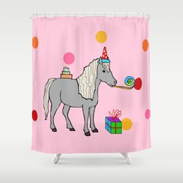 Mini horse party Shower Curtain