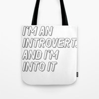 introvert Tote Bags featuring Introvert by BMaw