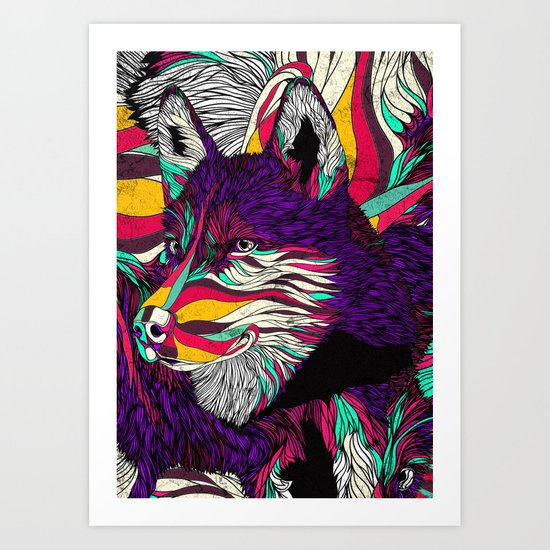 Color Husky (Feat. Bryan Gallardo) Art Print