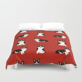 TriCorgis - Cute corgi, dog pet, corgi decor, corgi pillow, corgi bedding, corgi pattern, cute corgi Duvet Cover