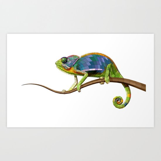 The Chameleon (Colored) Art Print