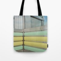 wisconsin Tote Bags featuring Wisconsin Diner by Claire Elizabeth Stringer