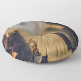 Scorched Earth Agate Floor Pillow