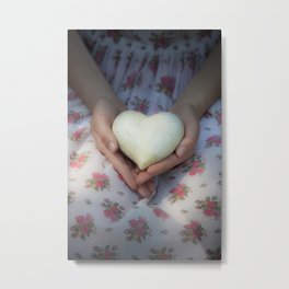 Hands holding a heart Metal Print