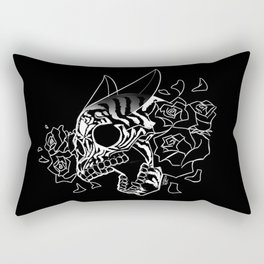 Skull 'n' Roses (NightmareNetty-Black&White) Rectangular Pillow