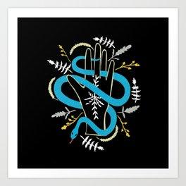 Hand Snake Art Print