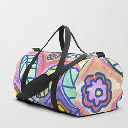 Flower handmade tiles Duffle Bag