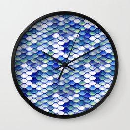 Mermaid Tale Pattern Wall Clock