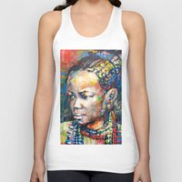 brussels Tank Tops featuring She - portrait of a beautiful woman by Marta Zawadzka