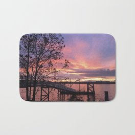 Zoo Cruise Landing - Sunsets at The Fly series Bath Mat