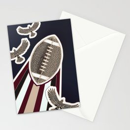 American football, gridiron ball Stationery Cards