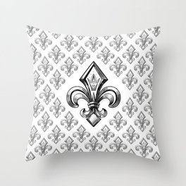 Royal - fleur de lys Throw Pillow
