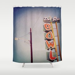 Del Rosa Bowl - San Bernardino, CA Shower Curtain