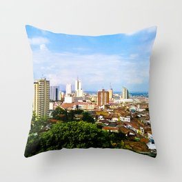 View Cali Valle del Cauca. Throw Pillow