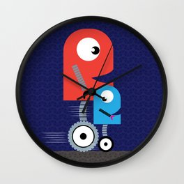 Funky Little Robots Wall Clock