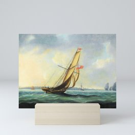 A Squadron Of The Fleet Bearing Down The Channel Off The South Coast Of England Towards An On-coming Mini Art Print
