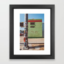 I Love You So Much Austin Framed Art Print