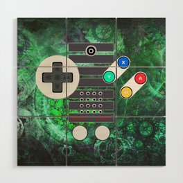 Classic Steampunk Game Controller Wood Wall Art