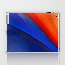 Bright orange and blue Laptop & iPad Skin