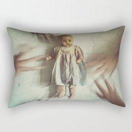 Reaching for Her Rectangular Pillow
