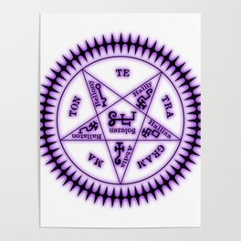 Sebastian Michaelis Sigil Dark (white bg) Poster