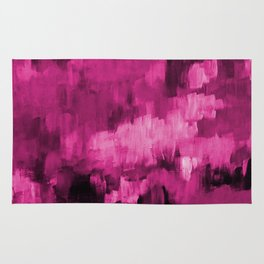 Paint 4 abstract minimal modern art painting canvas affordable art passion pink urban decor Rug