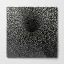 Dark Abyss Tubular Mandalas 9 Metal Print