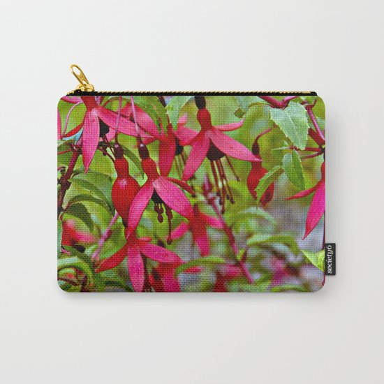 Pink Fuchsia Blossoms Carry-All Pouch