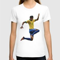 neymar T-shirts featuring World Cup - Brazil - Neymar by HonickDesign
