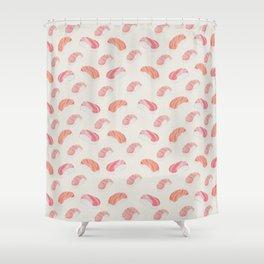 Watecolor Nigiri Sushi Pattern Shower Curtain