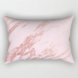 Pastel pink rose gold Rectangular Pillow