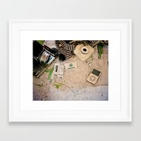 vintage map Framed Art Prints featuring Map by Carmen Moreno Photography