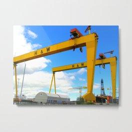Harland & Wolff Cranes Metal Print