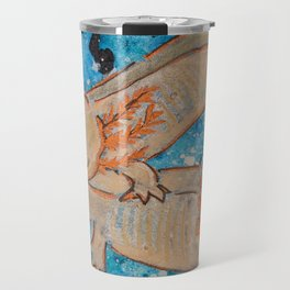 Axolotls  Mexican Salamander Walking Fish Travel Mug