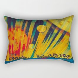 The New Planet, landscape painting by Konstantin Yuon Rectangular Pillow