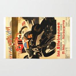Nurburgring Race, vintage poster Rug